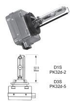 Lucas LLD3S - LAMP.AUT.GAS DISCHARGE 42V 35W PK32