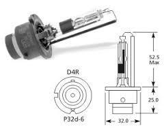 Lucas LLD4R - LAMP.AUT.GAS DISCHARGE 42V 35W P32D