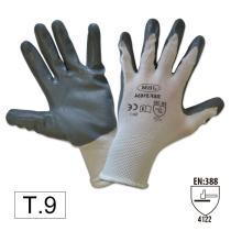 Jbm 51634 - Guantes con palma reforzada de nitrilo T.8