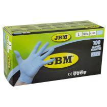 Jbm 52448 - Guantes azules desechables de nitrilo 4.5mil T. M (100 Uds.)