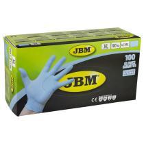 Jbm 52449 - Guantes azules desechables de nitrilo 4.5mil T. L (100 Uds.)