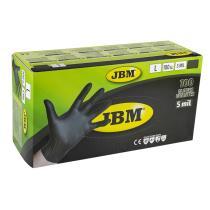 Jbm 52682 - Guantes negros desechables de nitrilo 4.5mil T. M (100 Uds.)
