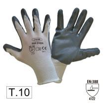 Jbm 51632N - Guantes con palma reforzada de nitrilo T.11 - Mod. Nuevo