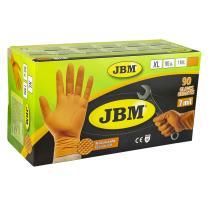 Jbm 53553 - Guantes naranja desechables de nitrilo T.L 7,0mil (100 Uds.)